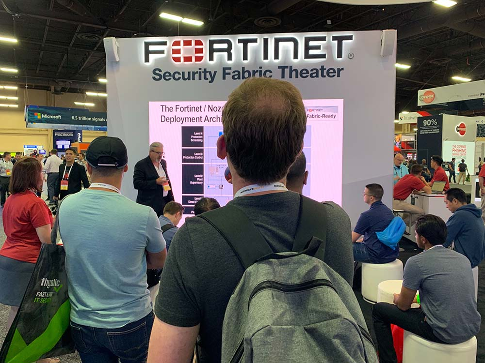 John-A-presenting--in-Fortinet-booth-at-Black-Hat
