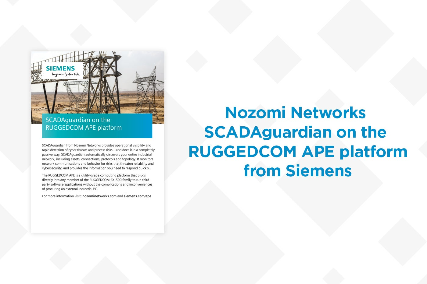 Nozomi Networks Embeds SCADAguardian Advanced on RUGGEDCOM Platform