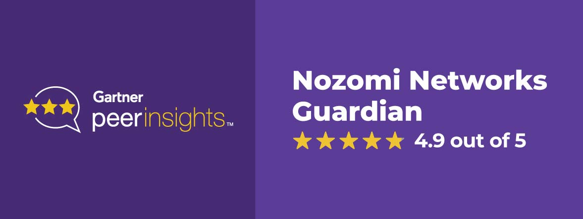 Customers Give Nozomi Networks Top Score in Gartner Peer Reviews