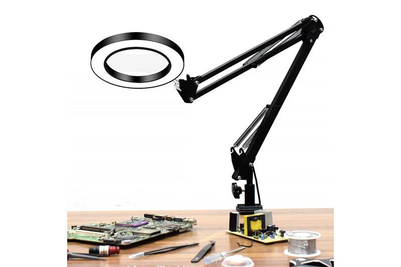 Figure 4b: Table mounted magnifier lens with LED light.